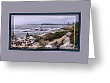 East Boothbay, Maine Ocean View, Framed Greeting Card