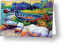 East Coast Boat Greeting Card