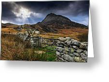 East Face Tryfan Snowdonia Greeting Card