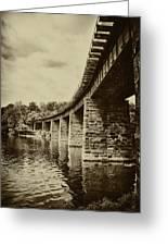 East Falls Rail Road Bridge Greeting Card