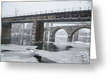 East Falls - The Frozen Schuylkill River Greeting Card