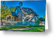 East Hampton Antique Cottage Greeting Card