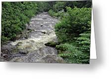 East Lyn River Greeting Card