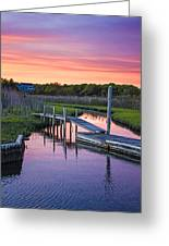 East Moriches Sunset Greeting Card