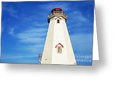 East Point Lightstation Prince Edward Island Greeting Card