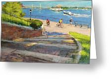 East River From Carl Schurz Park Greeting Card