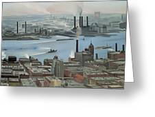 East River From Shelton Hotel Greeting Card