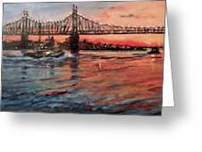 East River Tugboats Greeting Card