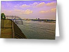 East River View Looking North Greeting Card