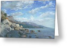 East View. A Seascape In The Vicinity Of Foros Mmxi Greeting Card