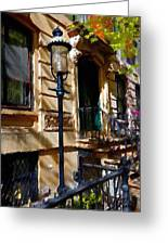 East Village New York Townhouse Greeting Card