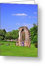 East Window Remains Of Old Church At Ticknall Greeting Card