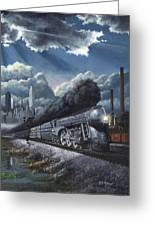 Eastbound Twentieth Century Limited Greeting Card