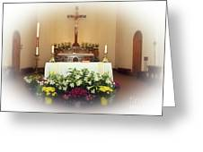 Easter Alter Greeting Card