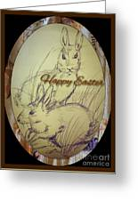 Easter Bunny  Greeting 5 Greeting Card