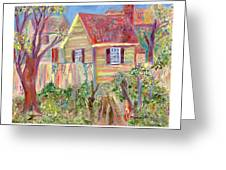 Easter House Greeting Card