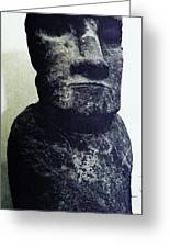 Easter Island Stone Statue Greeting Card