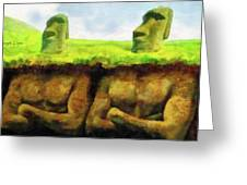 Easter Island Truth Greeting Card