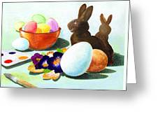 Easter Morning Still Life Greeting Card