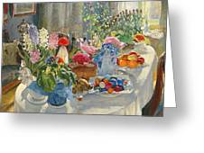 Easter Table Greeting Card