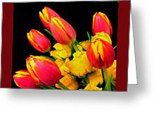 Easter Tulips And Roses Greeting Card