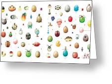 Eastereggs Greeting Card by Kestutis Kasparavicius