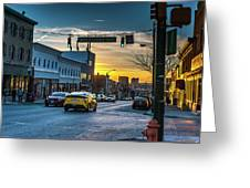 Eastern Avenue Sunset Greeting Card