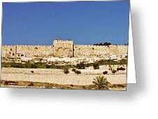 Eastern Gate Temple Mount Greeting Card