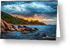 Eastern Glow At Sunset Greeting Card