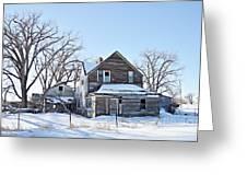 Eastern Montana Farmhouse Greeting Card