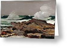 Eastern Point Greeting Card by Winslow Homer