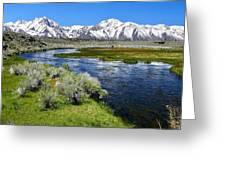 Eastern Sierra Mountains Greeting Card
