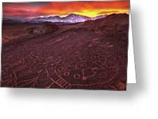 Eastern Sierra Petrolpyh Sunset Greeting Card