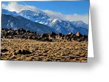 Eastern Sierras 2 Greeting Card