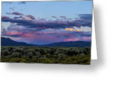 Eastern Sky At Sunset - Taos New Mexico Greeting Card