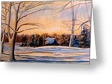 Eastern Townships In Winter Greeting Card