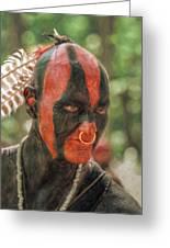 Eastern Woodland Indian Portrait Greeting Card