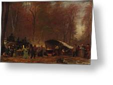 Eastman Johnson - A Different Sugaring Off - Circa 1865 Greeting Card