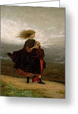 Eastman Johnson - The Girl I Left Behind Me Greeting Card