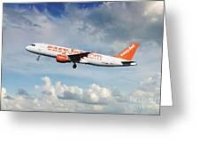 Easyjet Airbus A321-214 G-eztk Greeting Card