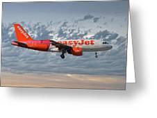 Easyjet Tartan Livery Airbus A319-111 Greeting Card