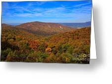 Eaton Hollow Overlook On Skyline Drive In Shenandoah National Park Greeting Card