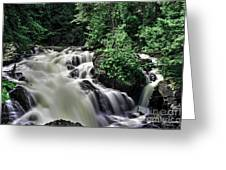Eau Claire Gorge Water Fall Greeting Card