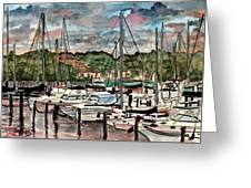 Eau Gallie Seascape Painting Greeting Card
