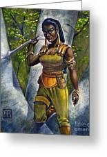 Ebony Elf Greeting Card