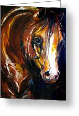 Ebony Night Equine Greeting Card