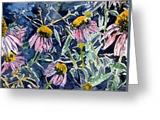 Echinacea Cone Flower Art Greeting Card