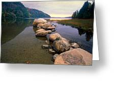 Echo Lake Sunset Greeting Card by George Oze