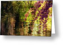 Echoes Of Monet - Cherry Blossoms Over A Pond - Brooklyn Botanic Garden Greeting Card