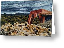 Echoes Of Tularosa, Museum Hill, Santa Fe, Nm Greeting Card